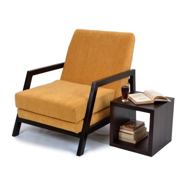 Gaidam Wooden Arm Chair Premium Fabric Skarabrand