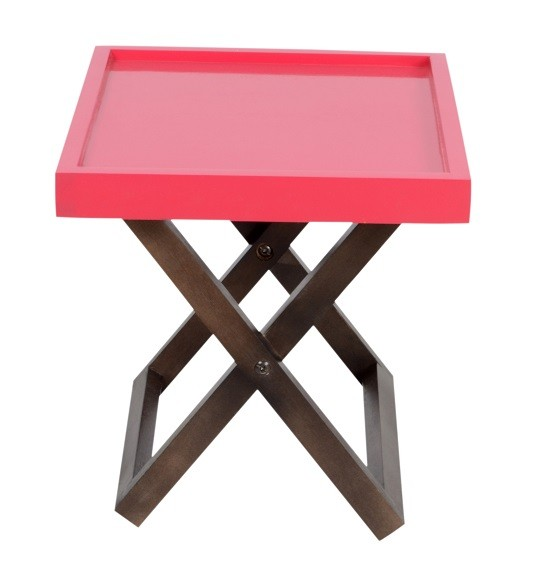Kuto foldable side table red skarabrand for Red side table