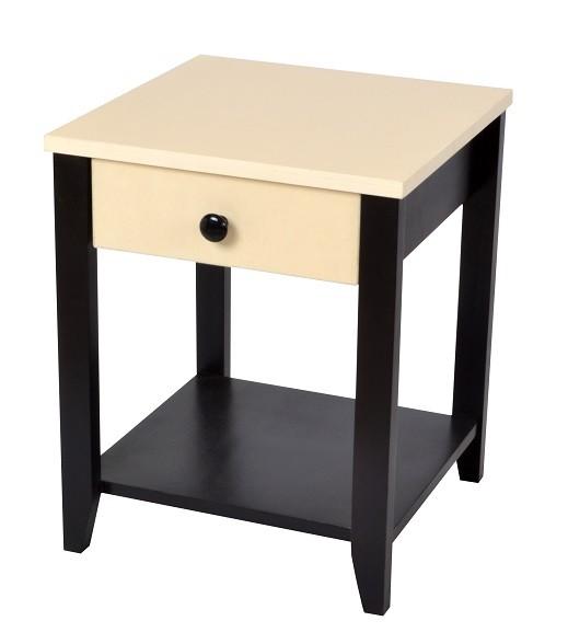 Rafi Bedside Table Two Tone Skarabrand