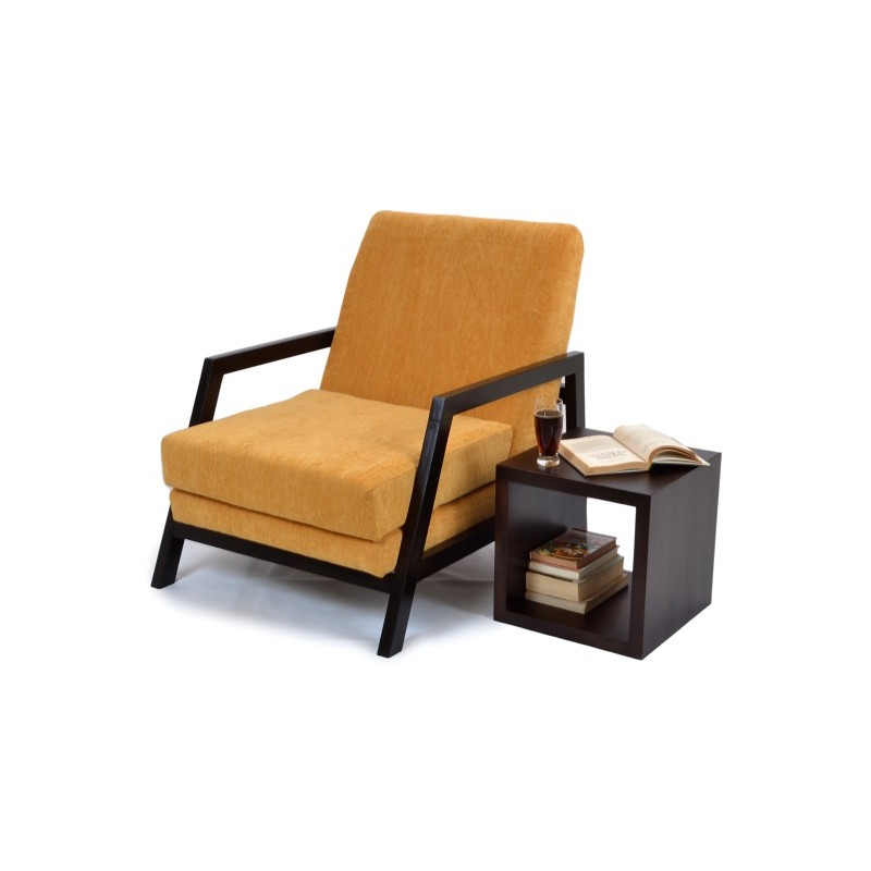 Gaidam Wooden Arm Chair (Premium Fabric)