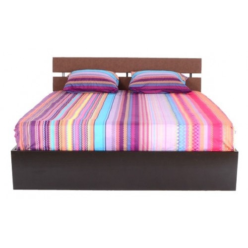 Longrin Bed (Brown) with Storage