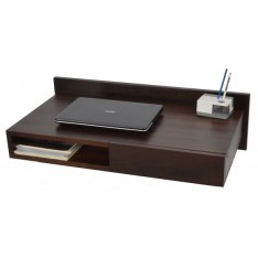 Leki Wall-Mounted Study Desk (Stained Mahogany Finish)