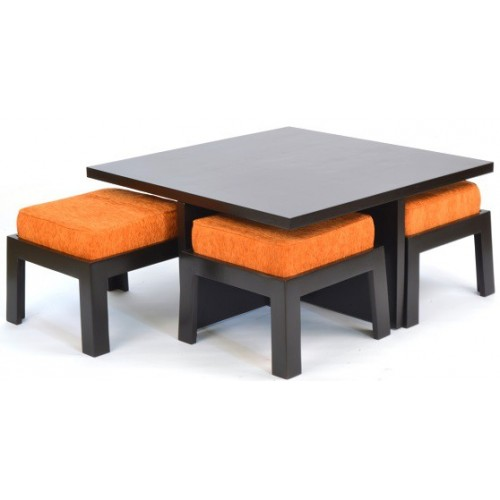 Shagam Coffee Table with four Stools