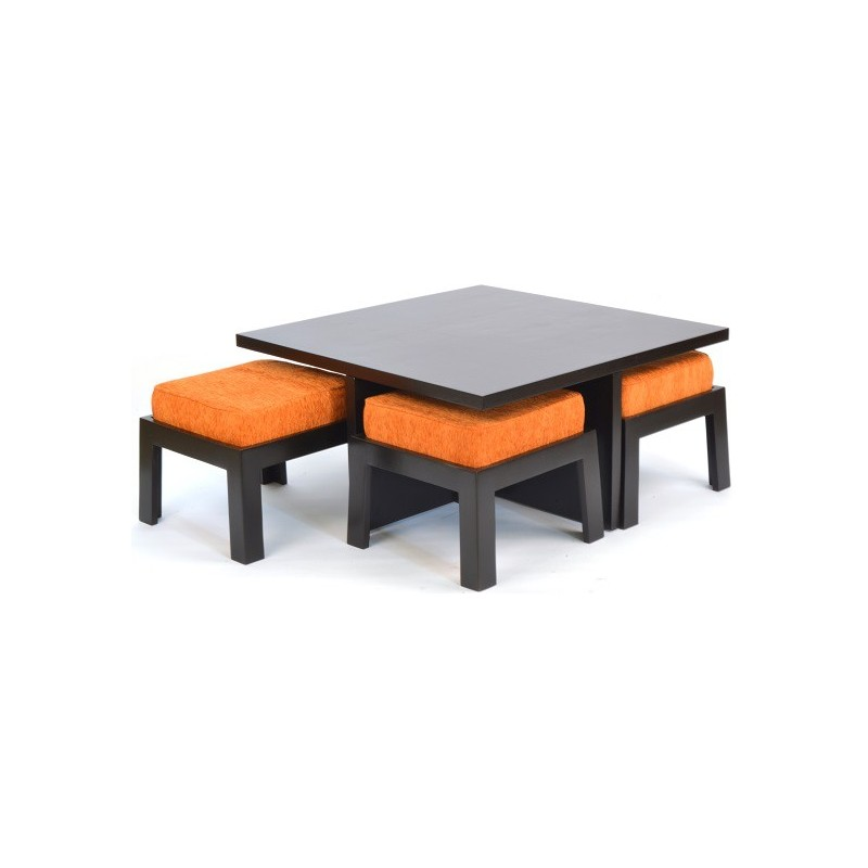 Shagam coffee table with four stools skarabrand for Center table coffee table