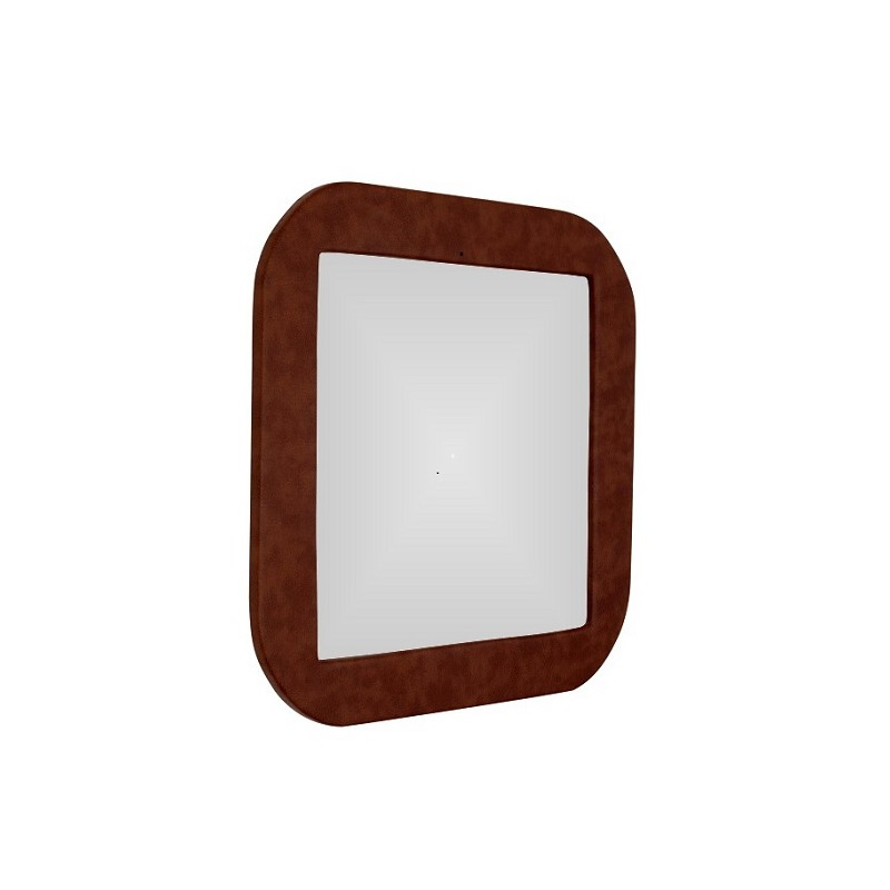 Ramat Leather-Clad Mirror (Brown)