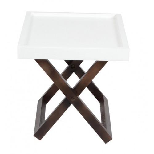 Kuto Foldable Side Table (White)