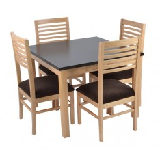 Alaba Dining Table (Two-tone Finish)