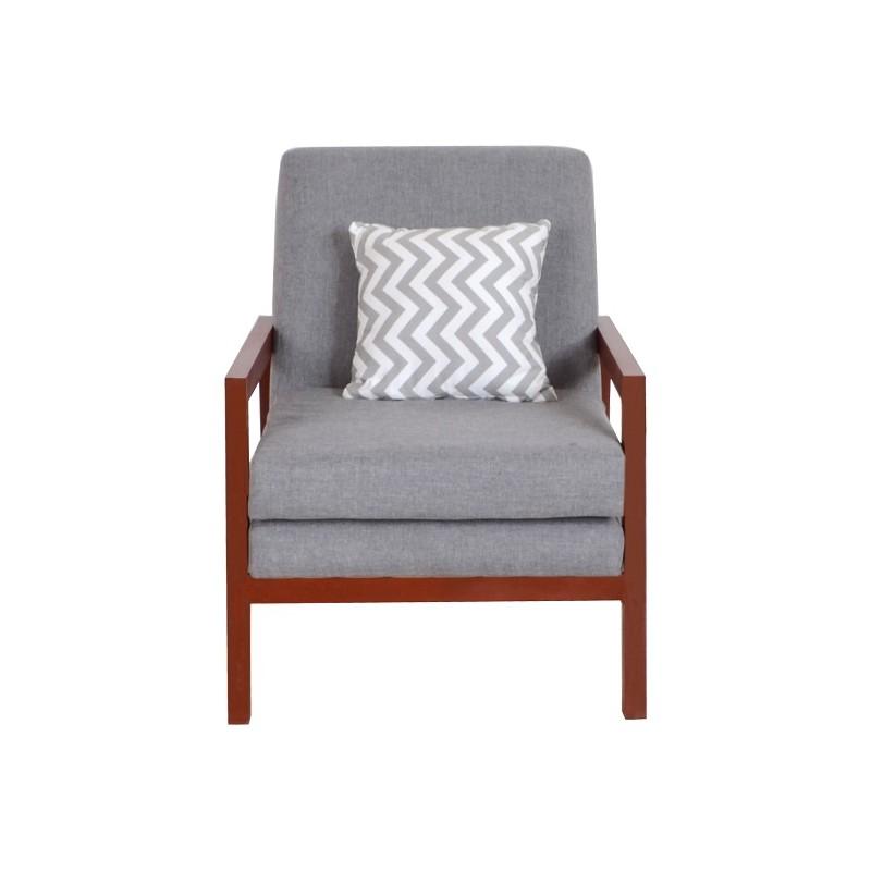 Gaidam Wooden Arm Chair (Mahogany Finish)