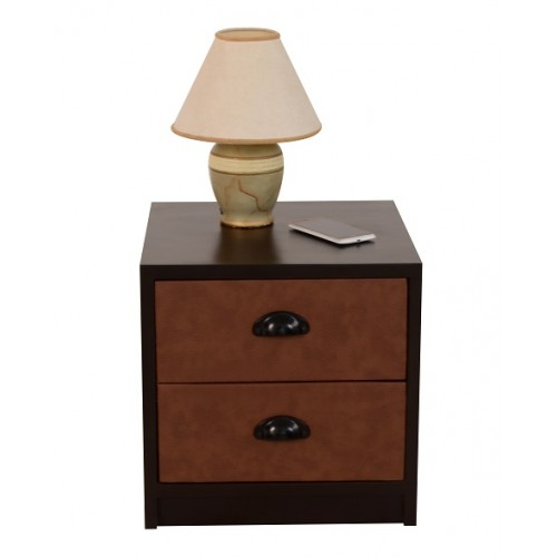 Orumba Bedside Table (Leather-clad)